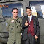 Autor do Portal São Thomé com o piloto do Exército