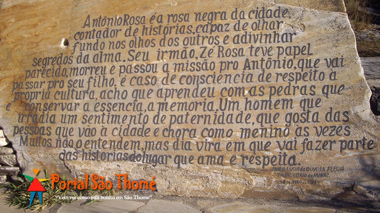 Homenagem ao Antonio Rosa - A Rosa Negra da Cidade