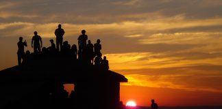 Por do Sol visto da Pirâmide no Parque Municipal Antônio Rosa