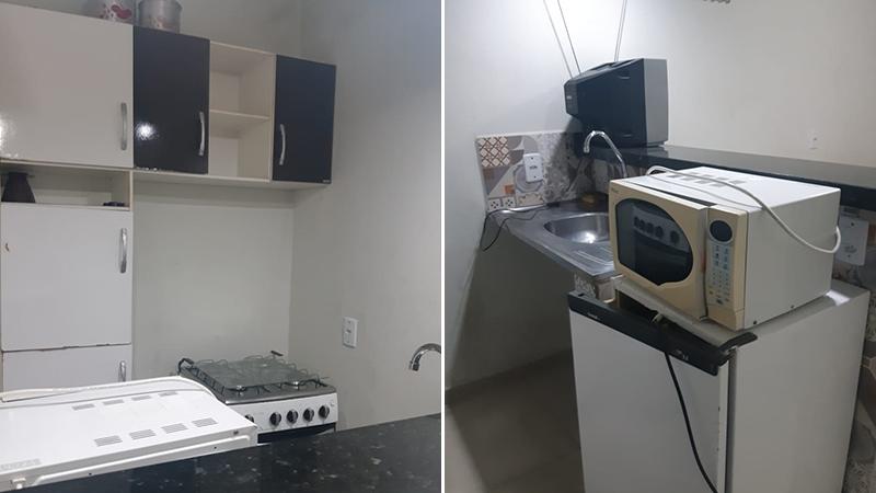Cozinha com utensílios básicos